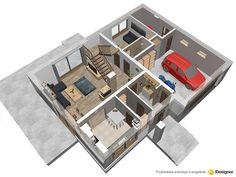 Projekt domu Darlena 143,55 m2 - koszt budowy - EXTRADOM Floor Plans, House, Home Decor, Decoration Home, Home, Room Decor, Home Interior Design, Homes, Floor Plan Drawing