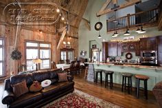 Barn Home Living Space  Sand Creek Post & Beam
