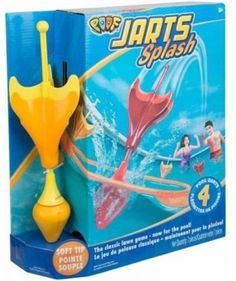 Poof Jarts Splash Target Dart Game for Pools, Yellow Darts Game, Sports Games For Kids, Aqua, Yard Games, Pool Toys, Family Games, Bag Storage, Bright Colors, Swimming Pools