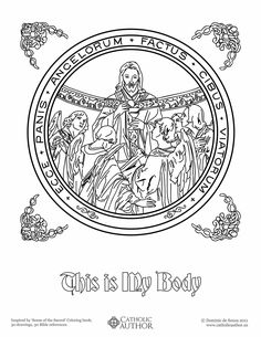 This is My Body - Free Hand-Drawn Catholic Coloring Pictures