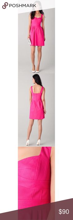 Selling this Nanette Lepore Dulce Dress Fiesta Hot Pink 0 XS on Poshmark! My username is: denapeanuts. #shopmycloset #poshmark #fashion #shopping #style #forsale #Nanette Lepore #Dresses & Skirts