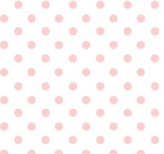 Dots White Pink Flannel