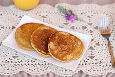 chickpea flour protein pancakes. cut recipe in half to serve one.