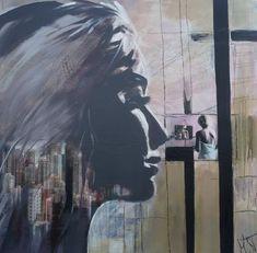 """women II"", Acrylcollage, Monika Stoffel -sold-"