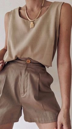 Retro Outfits, Short Outfits, Classy Outfits, Cool Outfits, Summer Outfits, Casual Outfits, Neutral Outfit, Neutral Style, 90s Fashion