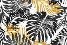 Jungle leaves vector pattern by Tropicana Pencil Illustration, Watercolor Illustration, Digital Illustration, Pattern Images, Vector Pattern, Leaves Vector, Tropical Pattern, Creative Sketches, Graphic Patterns
