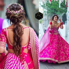 20 Unique And Trending Bridal Hair Accessories For the Modern Indian Bride - My list of women's hair styles Bridal Hairstyle Indian Wedding, Indian Bridal Outfits, Indian Wedding Hairstyles, Indian Bridal Fashion, Bride Hairstyles, Ponytail Hairstyles, Updo Hairstyle, Hairdos, Lehenga Designs