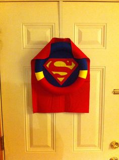 Superman Wreath by SamanthaAliceCrafts on Etsy, $30.00
