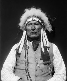 Chief Wooden Leg, 1858-1940, was a veteran of the 1876 Battle of the Little Bighorn and later a tribal judge. As judge, he was told that the Bureau of Indian Affairs had issued an edict that Indian men could not have more than one wife. This was part of a governmental offensive against polygamy, which affected the Mormon settlers of Utah as well. As tribal judge, Wooden Leg was charged with enforcing the new rule. Which was by no way embraced with enthusiasm by the members of the tribe.