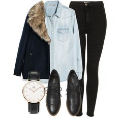 Untitled #3716 by laurenmboot on Polyvore featuring MANGO, Zara, Topshop, Kate Spade Saturday and Daniel Wellington