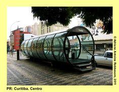 Bus stop in Curitiba, Brazil