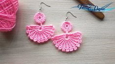 Metal Clay Jewelry, Jewelry Knots, Precious Metal Clay, Crochet Patterns, Crochet Ideas, Crochet Earrings, Gems, Sewing, Bikinis