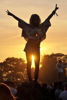 Festival sunset - everyone must have at least one!