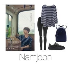 """Love Yourself: Namjoon"" by infires-jhope ❤ liked on Polyvore featuring Puma, Topshop and Lacoste"