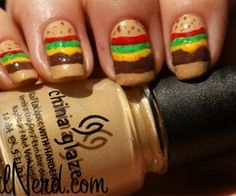 Cheeseburger nails..then i would really bite them!