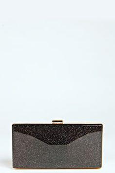 Zara Box Perspex Clutch at boohoo.com