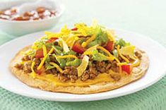 Taco Salad Tostada recipe
