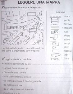 legende e simboli (Geografia) Learning Italian, Reading Comprehension, Problem Solving, Middle School, Bullet Journal, L2, Homeschooling, Desktop, Teacher