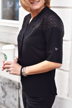 Polo blouse with ausbrenner (style Venice)