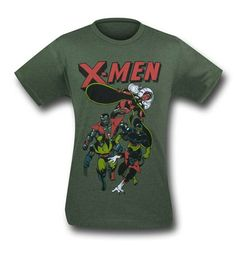 X-Men Retro Dash Sage Heather 30 Single T-Shirt