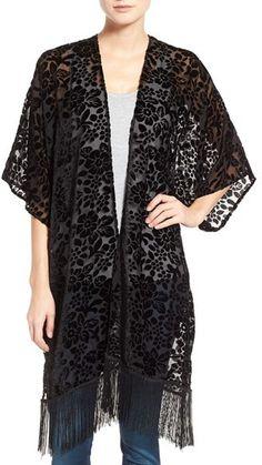 Brazen 'Blossom' Burnout Velvet Kimono