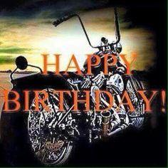 Happy Birthday Biker, Happy Birthday Harley Davidson, Happy Birthday To Him, Birthday Wishes Greetings, Happy Birthday Wishes Quotes, Happy Birthday Wishes Cards, Birthday Wishes For Daughter, Happy Birthday Celebration, Birthday Cheers