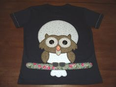 Estela Patchwork: Camiseta Coruja