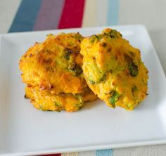 Broccoli and Cheddar Patties with sweet potato - for baby led weaning little hands