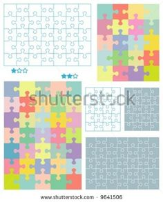 Powerpoint templates word templates powerpoint backgrounds jigsaw puzzle blank templates for 4x5 20 pieces and 5x7 35 pieces toneelgroepblik Image collections
