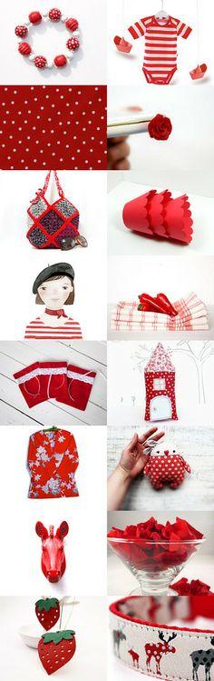 Red fun by Kristina Sabaite on Etsy--Pinned with TreasuryPin.com