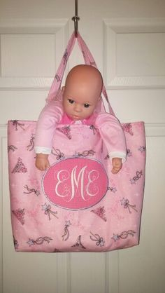 Baby tote bag for Emmie