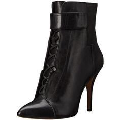 Pour La Victoire Women's Onyx Bootie (3 120 ZAR) ❤ liked on Polyvore featuring shoes, boots, ankle booties, lace-up ankle booties, bootie boots, laced up ankle boots, lace up ankle bootie and short boots
