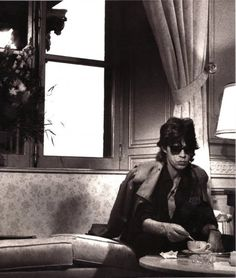 Mick Jagger. Even rockers need time out with a cup of tea