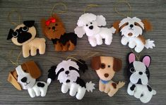Dog Crafts, Felt Crafts, Crafts To Make, Poodle, Felt Keyring, Yorkshire, Sewing Projects, Craft Projects, Baby Letters