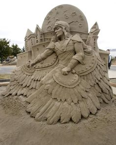 Esculturas de areia - Icarus II, Dan Belcher