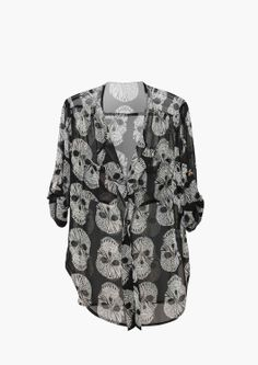 Skull Blouse.... I neeed this!!!