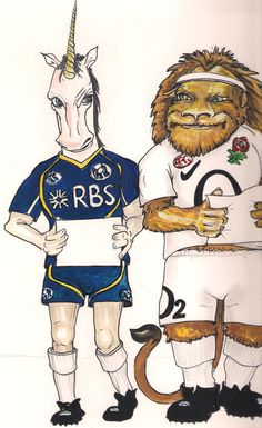 Rugby Six Nations Scotland and England. Branding needs to be removed.