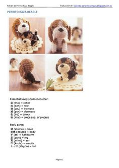 Interesting Beagle Friendly Loyal And Loving Ideas. Glorious Beagle Friendly Loyal And Loving Ideas. Crochet Amigurumi, Amigurumi Doll, Amigurumi Patterns, Diy Crochet, Crochet Dolls, Crochet Patterns, Handmade Dog Collars, Dog Items, Beagle Dog