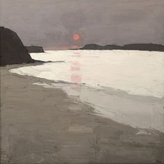 the-night-picture-collector:    Morfa Conwy, Sir Kyffin Williams. EnglishWelsh (1918 - 2006)