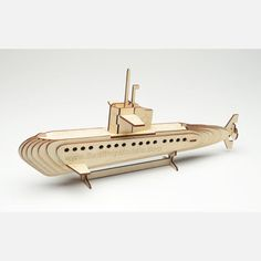 Whether you're an armchair engineer or simply looking for mind/hand stimulation that doesn't involve a video game console, Cary Chleborad's meticulous laser-cut wood puzzles are the perfect way to spend a rainy Saturday afternoon. The pieces in this kit assemble into a detailed model of a submarine. Once it's built, you can display your creation on a shelf to show off your mechanical prowess.