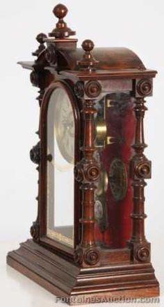 Welch Patti No. Antique Interior, Antique Furniture, Plywood Furniture, Mantel Clocks, Cool Clocks, Wood Turning Projects, Grandfather Clock, Antique Clocks, Decoration