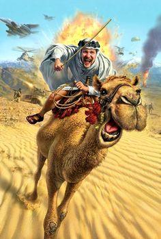 Morgan of Arabia. Artwork by Mark A. Fredrickson.