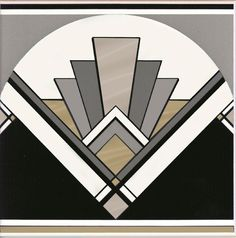 Art Deco inspired patterns are huge at the moment, thanks to The Great Gatsby. Bring the clean lines and bold symmetry into your home. Art Deco fan tile by Original Style.