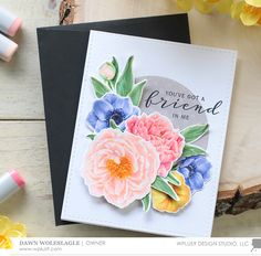 WPlus9 Design Stamps - Modern Peonies CL-WP9MPE | Scrapbooking, Cardmaking, Craft Suppliers Online S