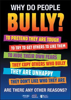 6 Great Posters on Bullying ~ Educational Technology and Mobile Learning Free resource of educational web tools, century skills, tips and tutorials on how teachers and students integrate technology into education Stop Cyber Bullying, Anti Bullying Activities, Anti Bullying Lessons, Adult Bullies, Bullying Quotes, Stop Bullying Posters, Bullying Prevention, Classroom Posters, School