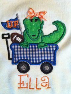 Custom Boutique Florida Gator Football Onesie by TrendyTotsAndMore, $21.00