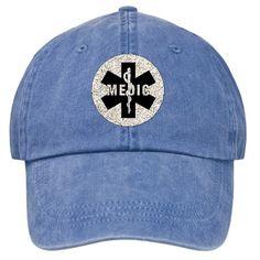 Medic EMS Star Of Life Stonewashed Cap  Paramedic Logo