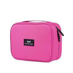 b94734068 Abaría - Bolsas de aseo 2 piezas (1 x bolsa + 1 x caja de cepillo de  dientes) - Bolso cosmético Impermeable - Neceseres de viaje - Bolso  almacenaje del ...