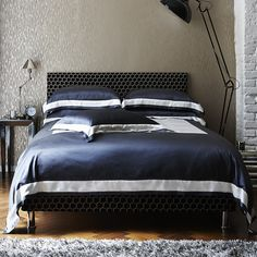 City Slate Silk Bed Linen with duvet and pillow cases in regular and euro shapes