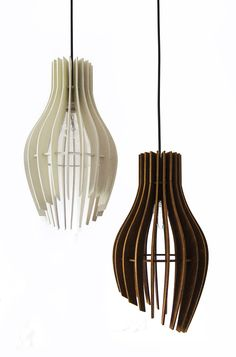 Stripes ♥→❤. Wooden pendant lamp. Consists of ecological painted birchwood pieces. Materials → Lasercut plywood,  1 meter of white or black plastic power cord with an E27 socket and a plastic/metal canopy. Height – 40 cm. Width – 21,5 cm.
